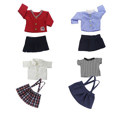 Fashion Shirt Strap Skirt Suits for 18inch American Girl Our Generation Doll