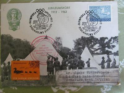Sweden Card Olympic & Scout Jubilees 1912 -1962