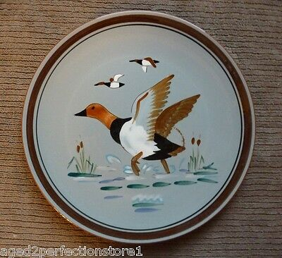 "Vintage STANGL Pottery Plate Charger - ""CANVAS BACK"" Trenton NJ bird duck"