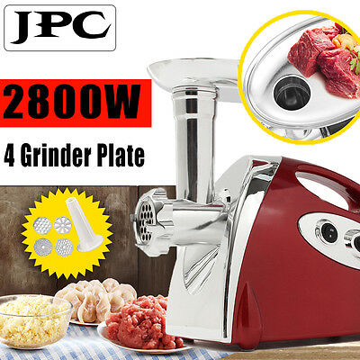 2800W Commercial Quality Electric Stainless Steel Meat Grinder Red