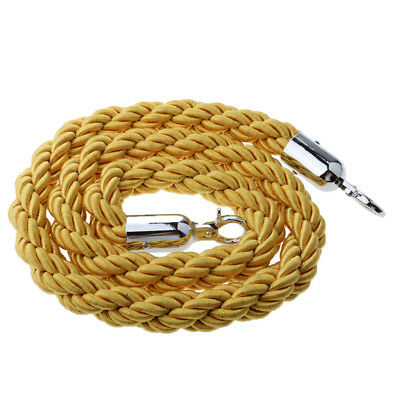 1.5m Stanchion Twisted Rope Yellow for Control Post Rope Crowd Queue Barrier