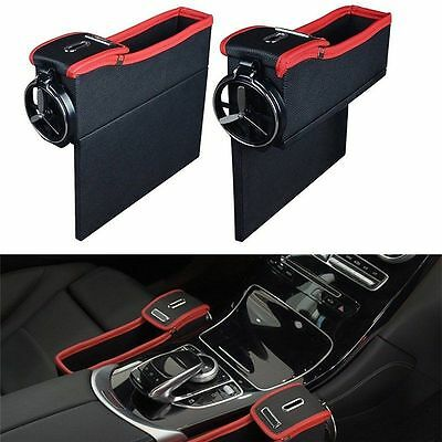 Car-styling Accessories Car Auto Seat Seam Storage Box Drivers Side Cup Holder G