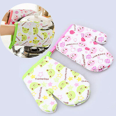 Cute Heat Proof Insulated Resistant  Gloves Oven Mitts Cooking Microwave Kitchen
