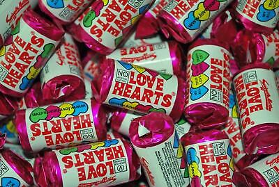 100 Mini Love Hearts 100 Rolls Retro Swizzels Wedding Favour Valentines Sweets