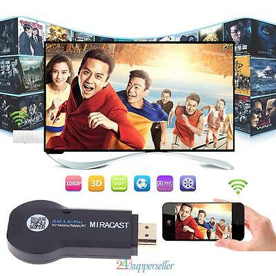 M2 1080P Cast WiFi Display Receiver Miracasts TV Dongle HDMI DLNA Airplay HD