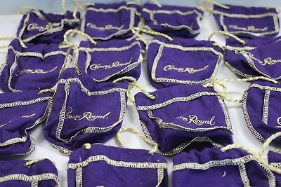 """Crown Royal Bags Purple Gold Shot Size 4.5"""" Tall Lot of 16"""