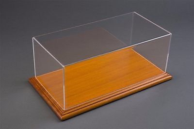 1/24 Display case, Mahogany wood colour base Hand made, scratch resistant acryli