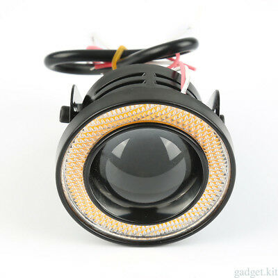 2.5'' 12V 10W Car HID White Fog Light COB Angel Eye Halo Rings High Power Pair*