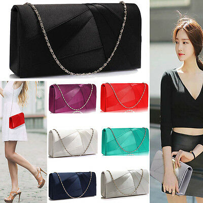 Ladies Handbags Wedding Bags Designer Satin Clutch Bags Evening Prom Party New