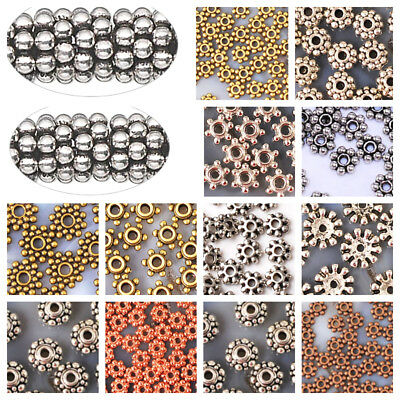 3mm 4mm 5mm 6mm 8mm Flower Daisy Spacer Plated Findings Brass Copper Silver Gold
