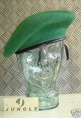 Green Wool Military Style Beret / Berret Size 7¾ - X-Large - NEW