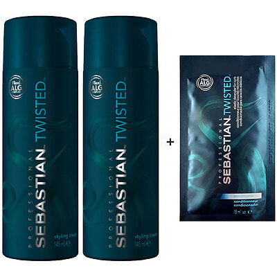 Sebastian Twisted Curl Magnifier Styling Cream 2x145ml + Conditioner Sachet 15ml