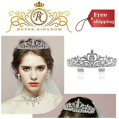 Bridal Wedding Rhinestone Crystal Tiara Comb Woman Accessories Formal Occasion
