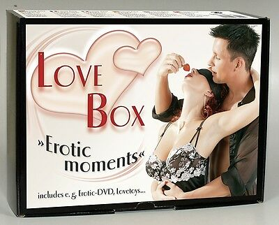 kit del piacere Love Box Erotic Moments Nero 20pz