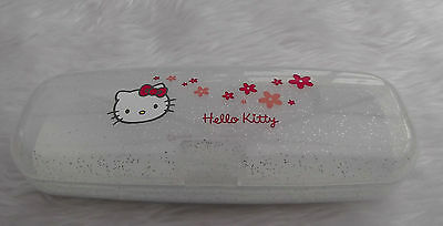 NEW - Hello Kitty white plastic glasses case - childrens - proceeds to charity