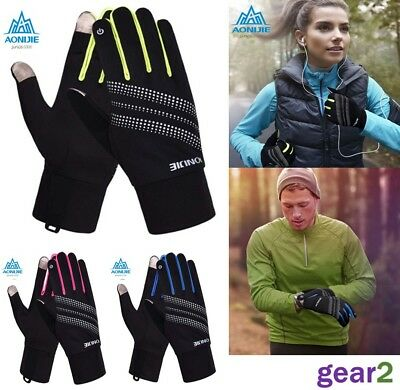 Running Gloves Mens Womens Football Sport Hi Viz Gloves From UK Stock