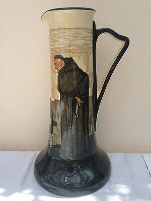 Art  Nouveau Royal Doulton Series Ware Monk in the Cellar Tapered Jug Noke 1910