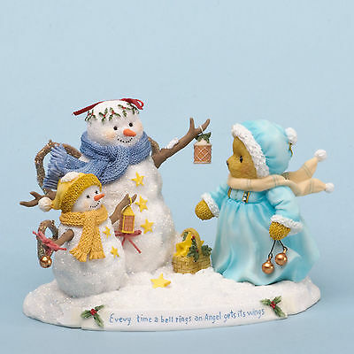 Cherished Teddies*BEAR with SNOWMEN*New*NIB*Winter*NOELLE*Christmas*4034600