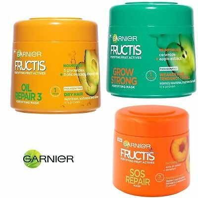 Garnier Fructis Mask Mask Fortifying Fruit Actives Grow Strong SOS  300 ml.