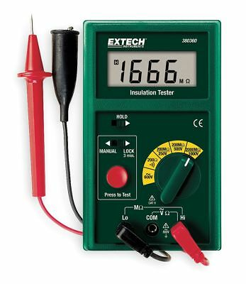 Extech Digital LCD Battery Operated Megohmmeter; Insulation Resistance Range: