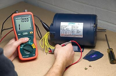 Extech LCD Battery Operated Megohmmeter; Insulation Resistance Range: 200