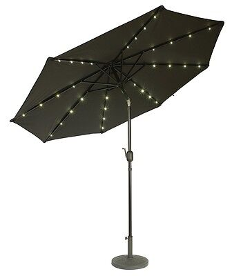 Deluxe Solar Powered LED Lighted Patio Umbrella - 9' - By Trademark Innovations