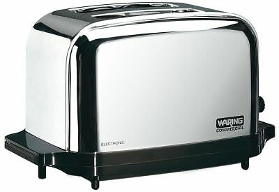 "Waring Commercial 8-1/4"" 2-Slice Light Duty Commercial Toaster - WCT702"