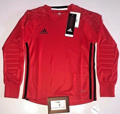 Adidas Performance Youth Size Xsmall Onore 16 Goalkeeping Jersey Red New