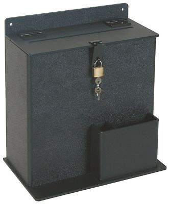 Suggestion Box, Plastic, Black - 4DKU2