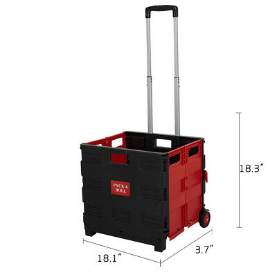 Folding Shopping Cart with Wheels Transit Utility Cart,Grocery Foldable Cart