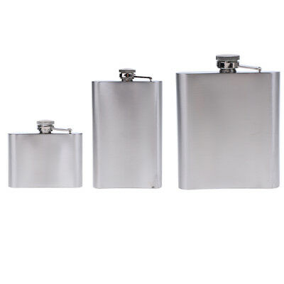 Stainless Steel Hip Flask Alcohol Whiskey Flagon Wine Pot Gift 4oz/10oz/18oz