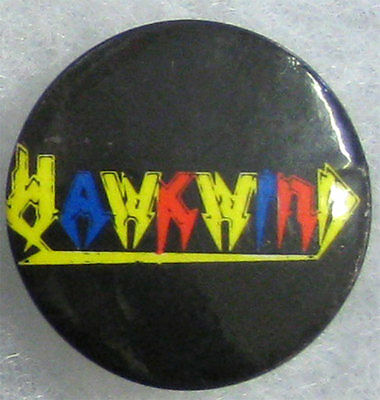 Hawkwind _RARE VTG 70's Pin Badge Button for hat/jacket/shirt - MeTaL motorhead