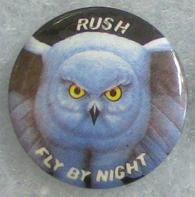 Rush - Fly By Night _RARE VTG 70's Lapel Pin Badge Button for hat/jacket/shirt
