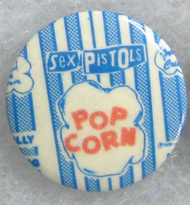 Sex Pistols _RARE VTG 70's Pin Badge Button for jacket/shirt - Great R/R Swindle