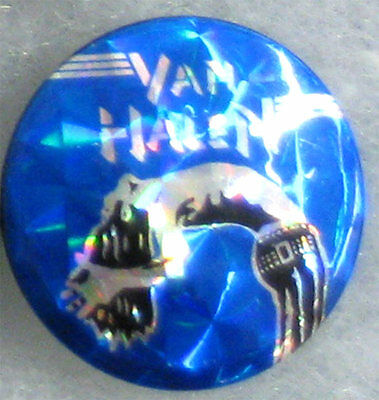 Van Halen _RARE VTG FOIL 80's Lapel Pin Badge Button for hat/jacket/shirt MeTaL