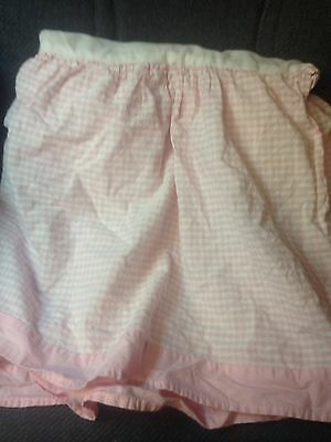 Seed Sprout Dust Ruffle Baby Bed Toddler Bed Skirt Pink White Gingham Check