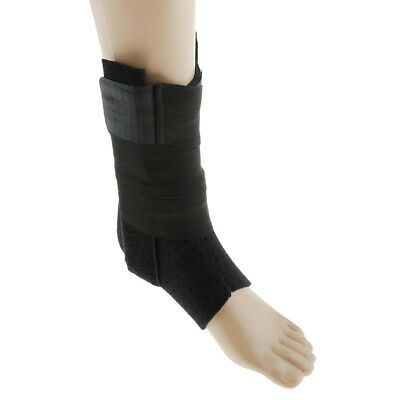Ankle Support Brace Stabilizer Basketball Football Injury Guard Wrap Black