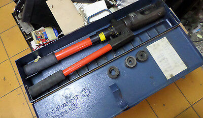 CEMBRE HYDRAULIC CRIMPING TOOL - MANUAL plus 4 sets of DIES -- HT130U