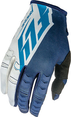 Fly Racing 16 Kinetic Blue/White ATV Motocross Offroad Motorcycle Riding Glove
