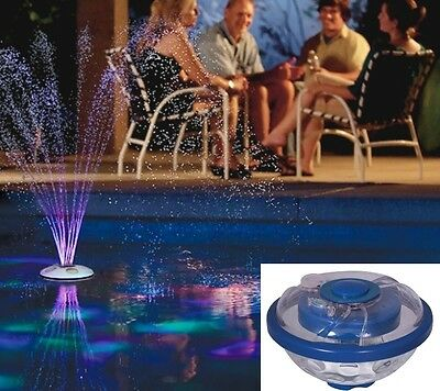 UNDER WATER FLOATING LIGHT with FOUNTAIN Pool LED Waterproof Floating Party pond