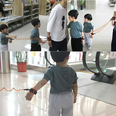 Kids Babys Safety Walking Harness Anti-lost Strap Wrist Leash Hand Belt 3 Length
