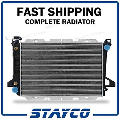 2-Row Radiator for Ford Bronco F-150 F-250 F-350 5.0 5.8 7.5 V8