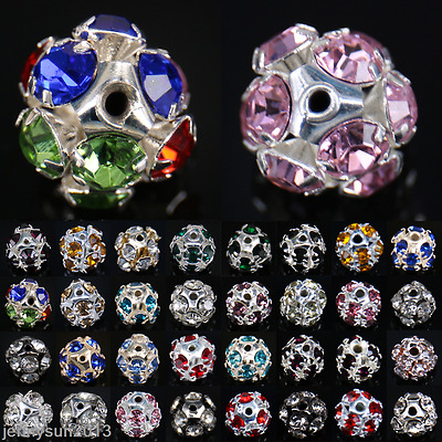 Bulk Wholesale 10mm/12mm/14mm Charms Round Glass Loose Spacer Beads Findings DIY