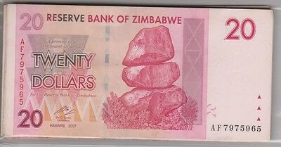coins paper money Reserve Bank of Zimbabwe collectibles  20 dollar