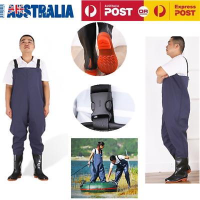 Fishing Chest Waders Rafting Wear PVC Waterproof Protective Outdoor Foot Wader