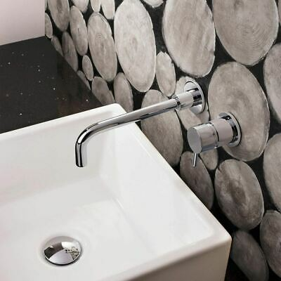 Miley Basin Sink Chrome Modern Brass Bathroom Wall Mounted Tap