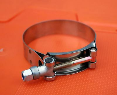 """1 x 2"""" 54mm-62mm Stainless Universal Silicone Hose Intercooler Turbo T-clamp"""