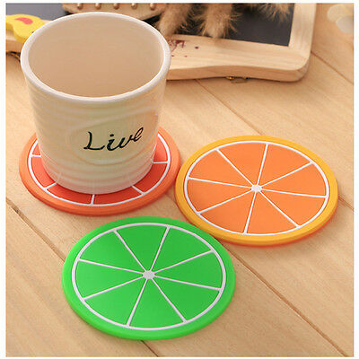 Cute Fruits Silicone Coaster Tea Coffee Cup Drinks Holder Mat Tableware