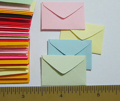 "Handmade miniature very tiny envelopes 3/4""x1-1/4"" little dollhouse fairy mail"