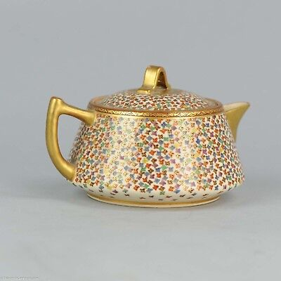 Antique 19c Satsuma Tea pot. Fabulous quality Japanese Porcelain Japan Marked...